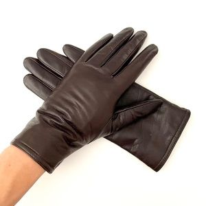Soft Brown Leather Gloves Fully Lined, Thinsulate Thermal Insulation, size 6.5